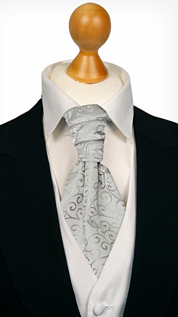 SNAZZY Silver cravat