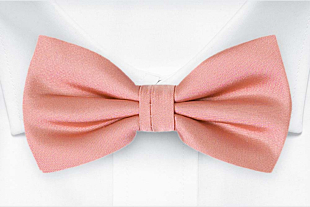 SOLID Blush pink bow tie