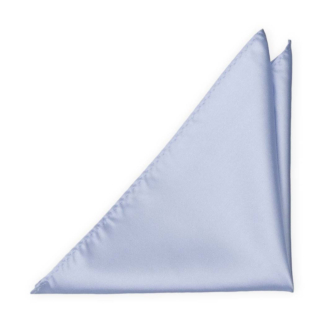 SOLID Ice blue pocket square