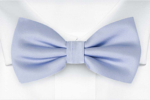SOLID Ice blue bow tie