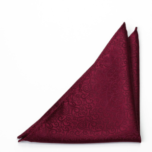 SWANKY Dark red pocket square