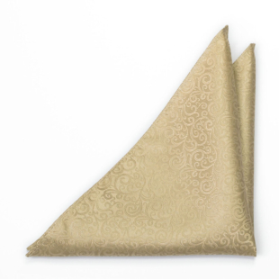 SWANKY Gold pocket square
