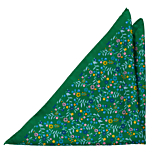 EVOCAREZZA Green pocket square