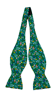 EVOCAREZZA Green self-tie bow tie