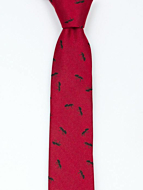 ANTBARON Red skinny tie