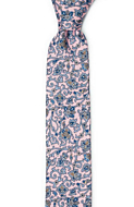 ARABESCO Powder pink skinny tie