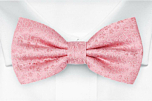 AUGURI Pale pink pre-tied bow tie
