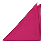 BASKETVEIL Hot pink pocket square