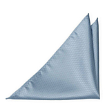 BIRDSEYE Dusty blue pocket square