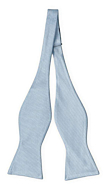 BIRDSEYE Dusty blue self-tie bow tie