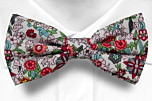 BLOOMDANCE White pre-tied bow tie