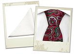 Boffoloa red tie and Briljant white pocket square gift combo