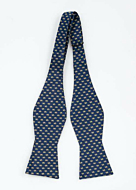 CASHKING Blue self-tie bow tie