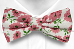DAISYDOLL Pink pre-tied bow tie