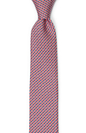 DECLINO Red skinny tie