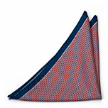 DECLINO Red pocket square