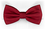 DRUMMEL Red pre-tied bow tie