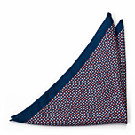 ECLISSI Red pocket square
