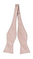 EVERAFTER Blush pink self-tie bow tie