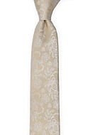 EVERAFTER Champagne gold skinny tie