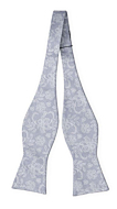 EVERAFTER Dusty blue self-tie bow tie