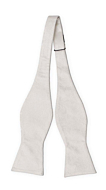 EVERAFTER Ivory self-tie bow tie