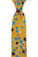 FLORASTIC Honey skinny tie