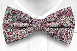 FLOWERFOLLY Pink boy's bow tie