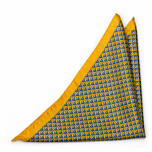 FORZAPESCE Yellow pocket square