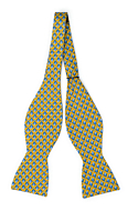 FORZAPESCE Yellow self-tie bow tie