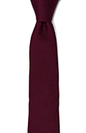 GRENADINE Burgundy red skinny tie