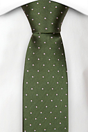 GRONGOLING GREEN skinny tie