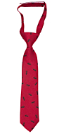 ANTBARON Red boy's tie small pre-tied