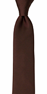 SOLID Brown skinny tie
