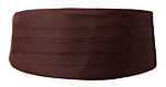 SOLID Brown cummerbund