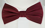SOLID Burgundy pre-tied bow tie