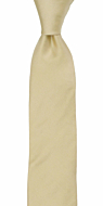 SOLID Champagne skinny tie