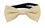 SOLID Champagne baby bow tie