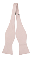 SOLID Dusty pink self-tie bow tie