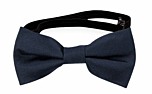 SOLID Navy blue baby bow tie