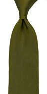SOLID Olive classic tie