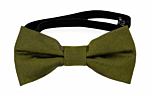 SOLID Olive baby bow tie