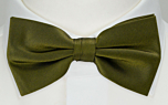 SOLID Olive boy's bow tie