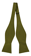 SOLID Olive self-tie bow tie