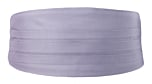 SOLID Powder purple cummerbund