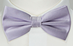SOLID Powder purple pre-tied bow tie
