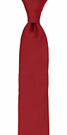 SOLID Red skinny tie