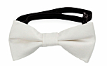 SOLID White baby bow tie