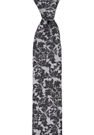 ZAMURAL Grey boy's tie medium