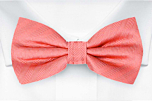 JAGGED Coral boy's bow tie